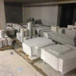 Wandzagen levert betonblokken op