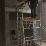 Betonboringen kunnen ook op hogere plekken worden uitgevoerd