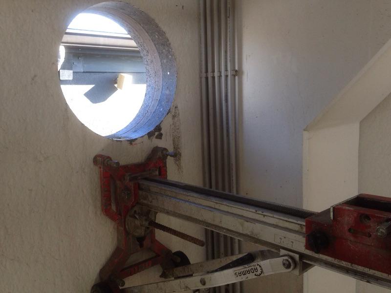 Betonboringen ventilatiegaten