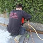 Betonboringen voor gaten verankeringen