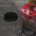 Resultaat van betonboringen