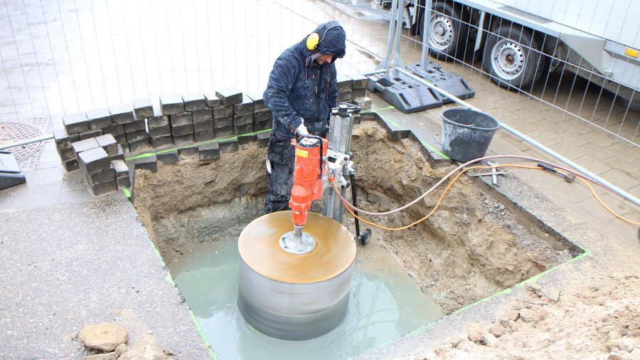 Sanitair betonboringen riolering