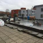 Wandzagen op het dak