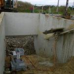 Zagen in beton wanden voor nieuwbouwproject